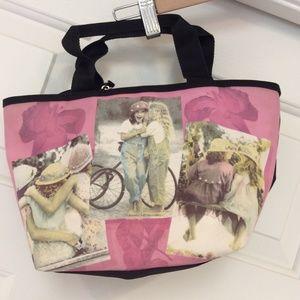 "Karen Dvorak Handbag Purse 12""x8"" Girl Friendship"